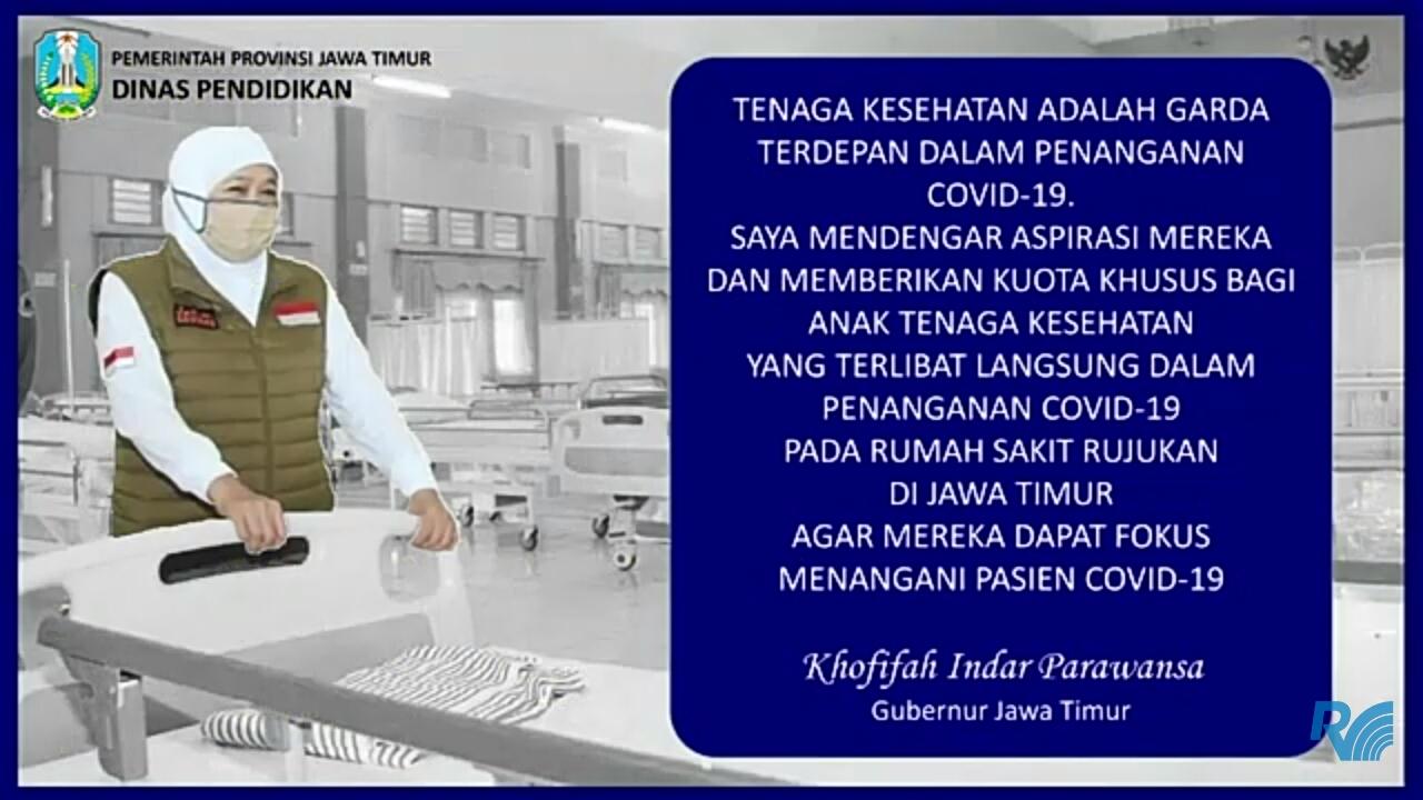 Photo of Gubernur Jatim Beri Kuota Khusus Anak Tenaga Kesehatan Pada PPDB SMAN Sederajat